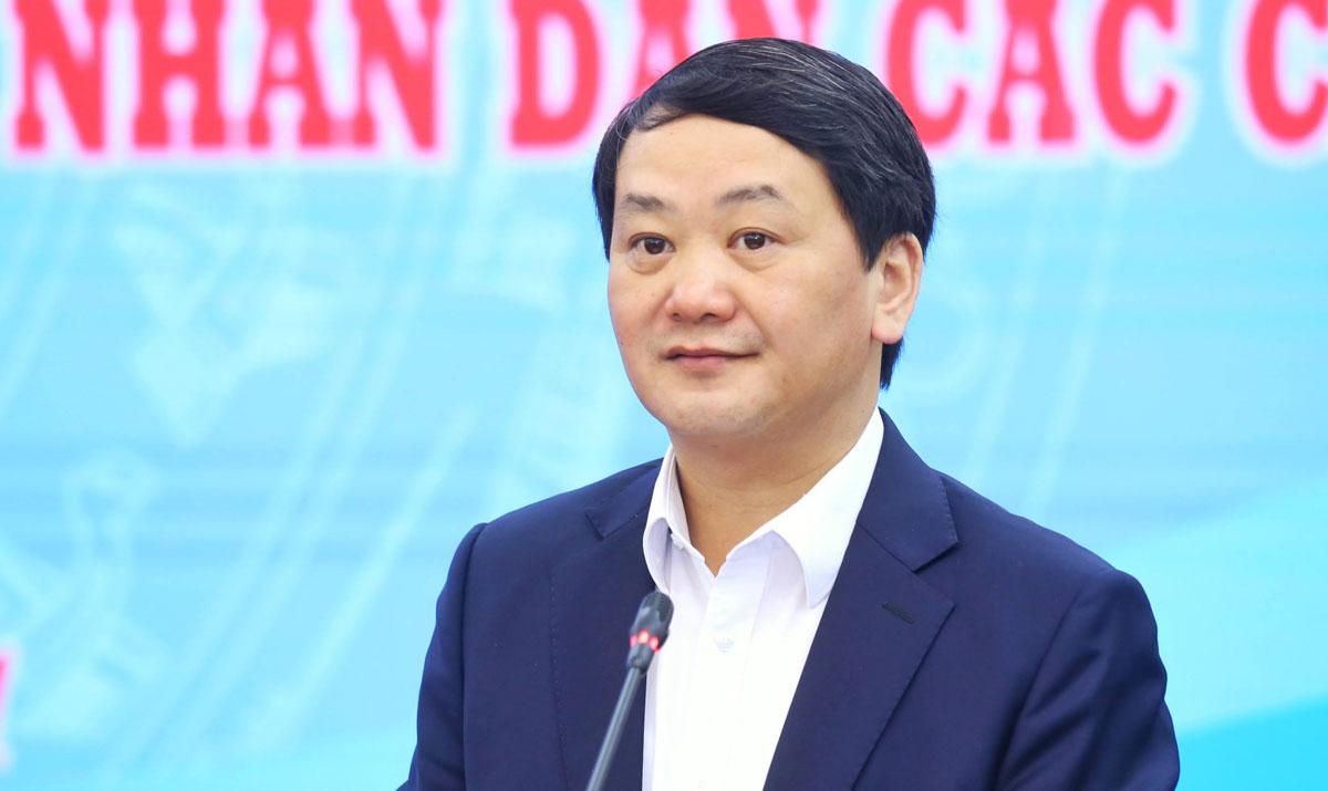 Ông Hầu A Lềnh, Phó Chủ tịch - Tổng Thư ký Mặt trận Tổ quốc Việt Nam. Ảnh: Hoàng Phong