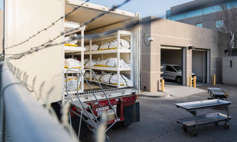 Thi thể bệnh nhân Covid-19 tại một bệnh viện ở bang Texas. Ảnh: AFP.