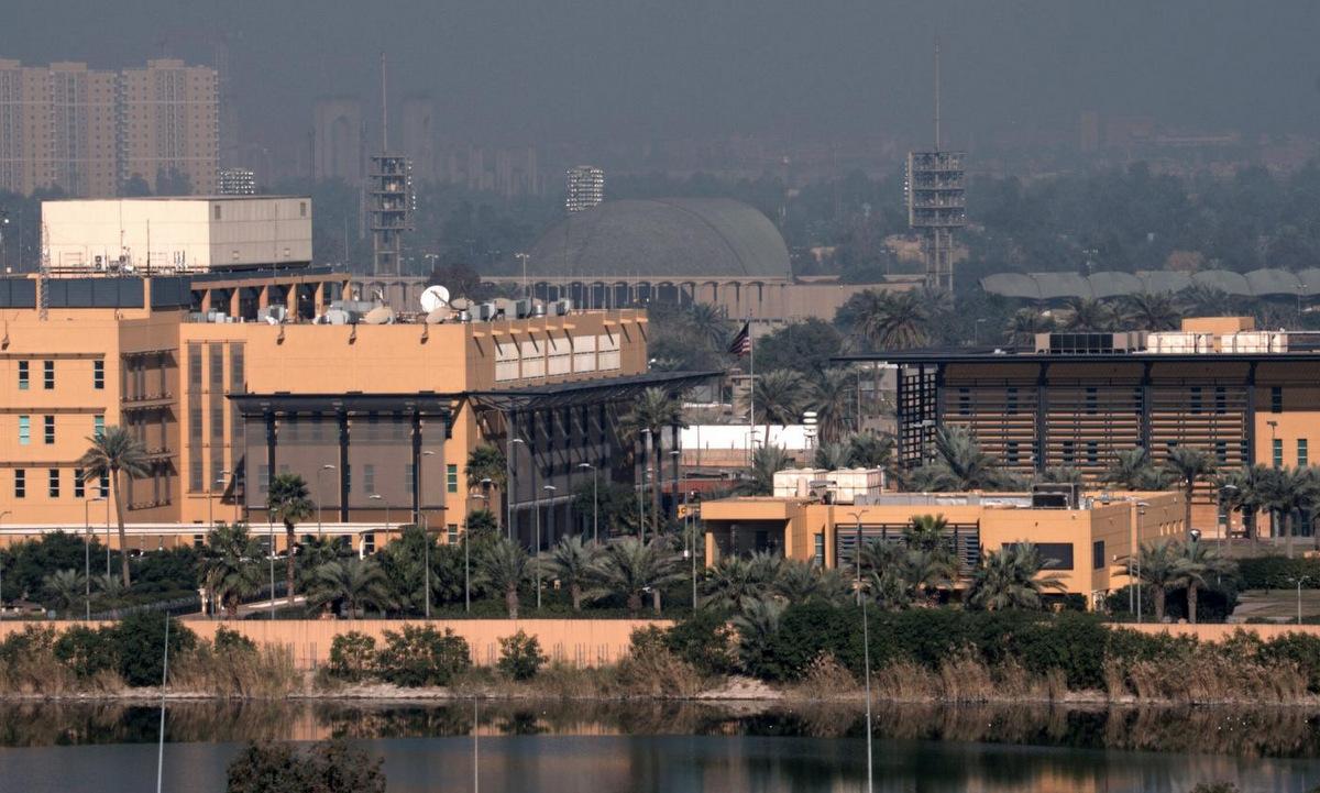 Khu đại sứ quán Mỹ tại thủ đô Baghdad. Ảnh: Reuters.