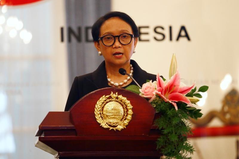 Ngoại trưởng Indonesia Retno Marsudi tại Jakarta hôm 10/1. Ảnh: Reuters.