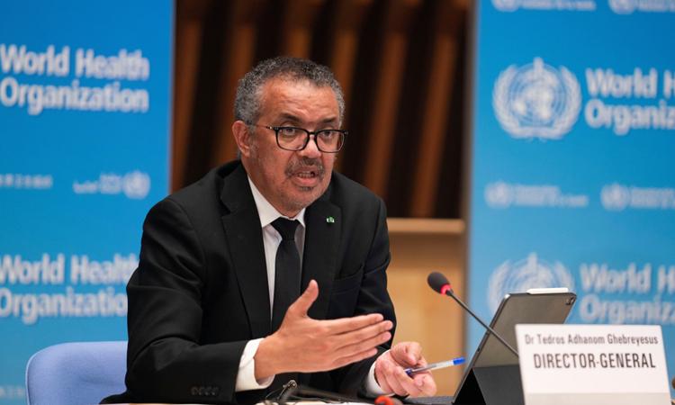 Tổng giám đốc WHO Tedros Adhanom Ghebreyesus tại cuộc họp về Covid-19 ở Geneva, Thụy Sĩ hôm 12/2. Ảnh: Reuters.