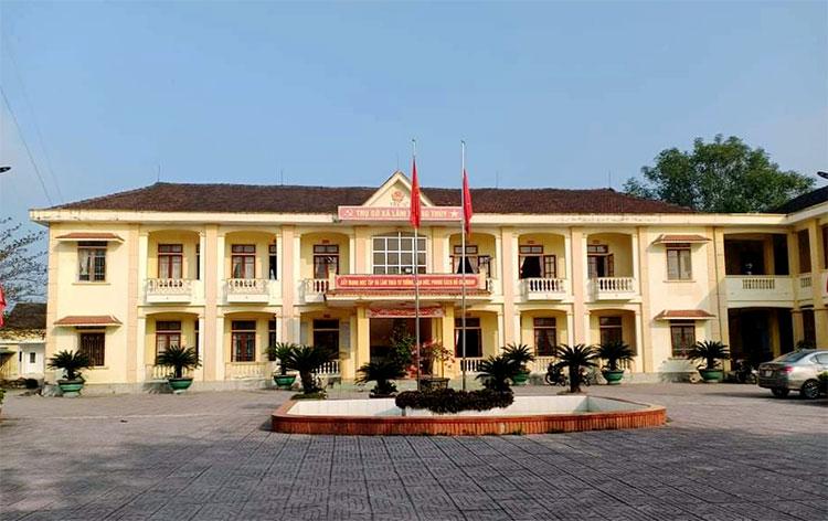 Trụ sở xã Lâm Trung Thủy, nơi ông Quốc giữ chức Phó bí thư Đảng ủy. Ảnh: Ngân Hà