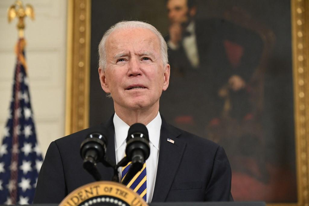 Tổng thống Mỹ Joe Biden phát biểu tại Nhà Trắng hôm 24/2. Ảnh: AFP