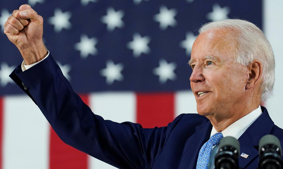 Joe Biden trong cuộc vận động tranh cử tại Wilmington, bang Delaware tháng 6/2020. Ảnh: Reuters.