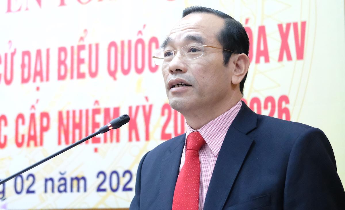 Phó Trưởng Ban Dân chủ - Pháp luật Mặt trận Tổ quốc Việt Nam Phan Văn Vượng. Ảnh: Hoàng Thùy