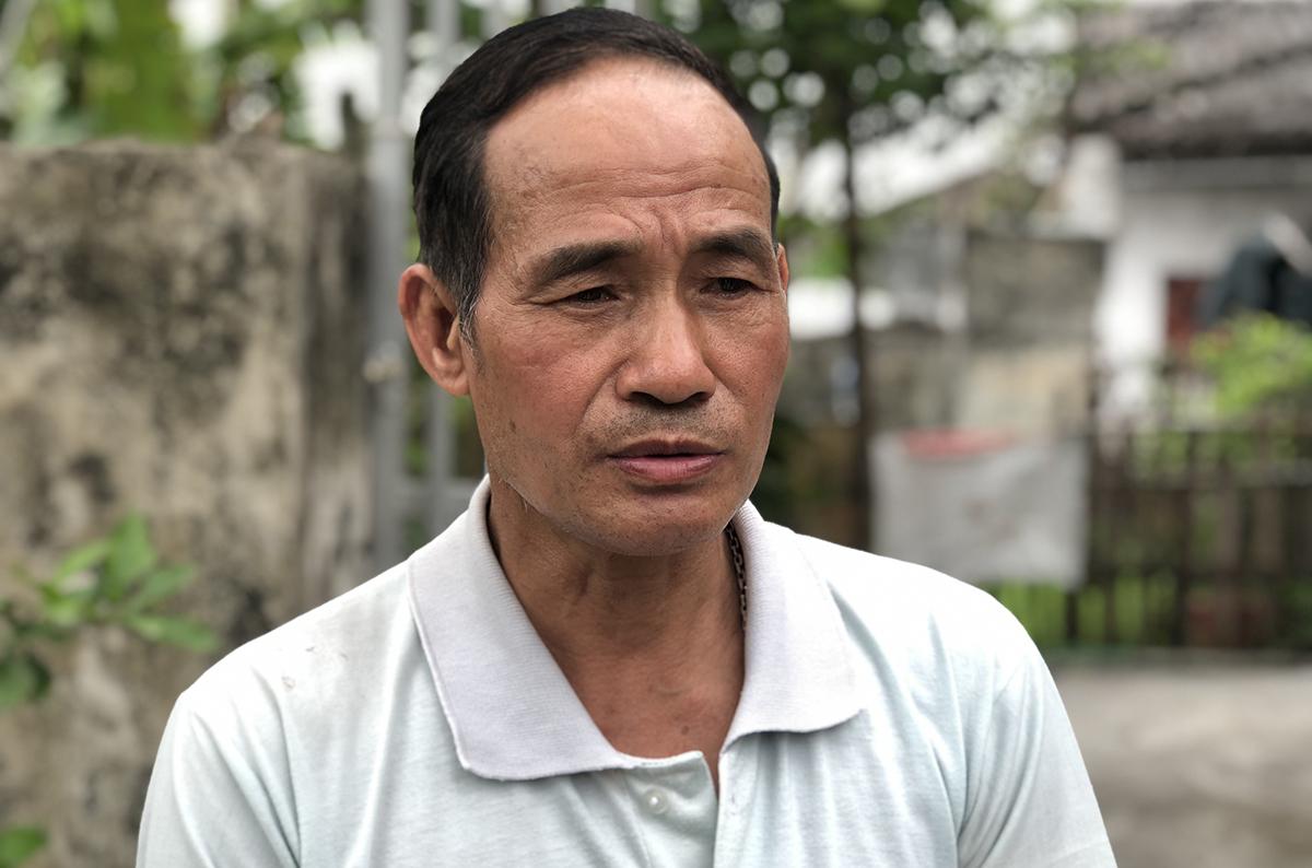 Ông Trần Văn Sông, sáng 25/2. Ảnh: Phạm Dự.