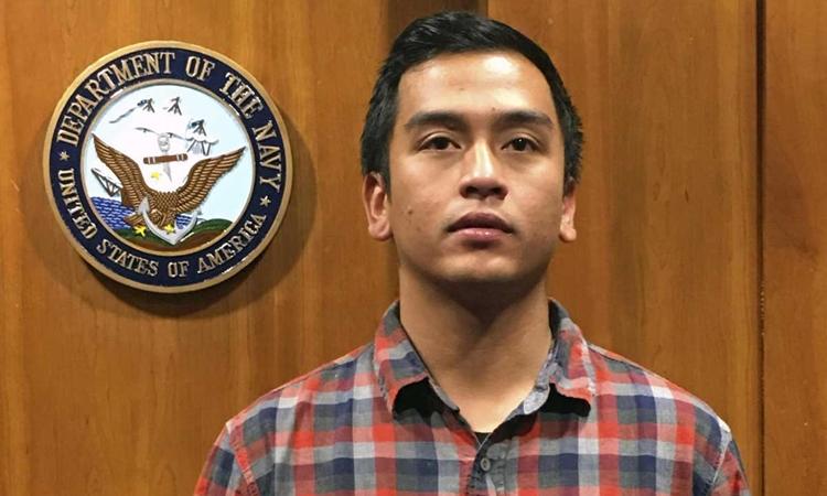 Cựu binh hải quân Mỹ Angelo Quinto tại California hồi tháng 11/2017. Ảnh: AP.