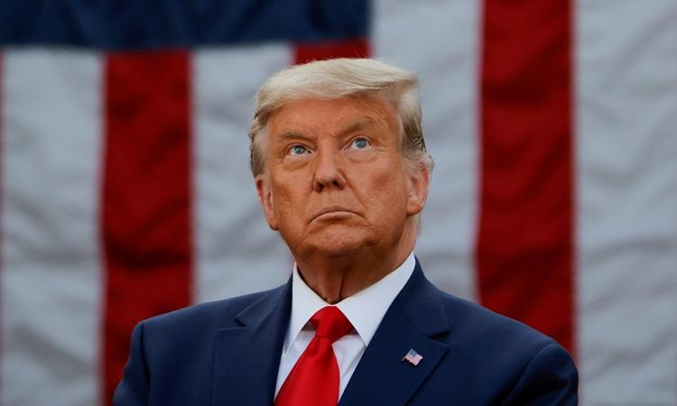 Cựu tổng thống Mỹ Donald Trump tại Nhà Trắng tháng 11/2020. Ảnh: Reuters.