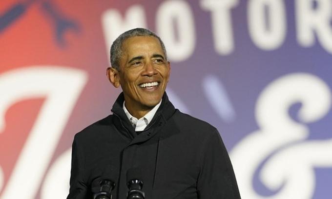 Cựu tổng thống Obama tại một sự kiện ở Detroit, Michigan, hồi tháng 10/2020. Ảnh: AP.