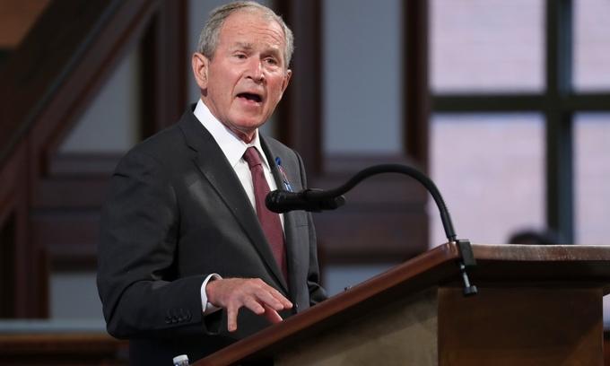 Cựu tổng thống Mỹ George W. Bush phát biểu tại Atlanta, Georgia, hồi tháng 7/2020. Ảnh: Reuters.