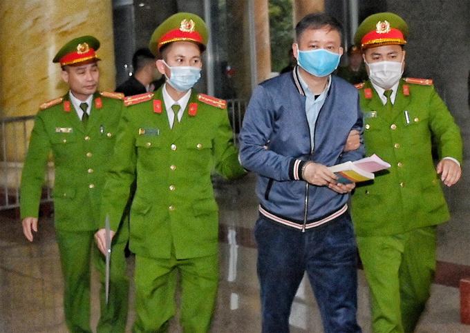 Bị cáo Trịnh Xuân Thanh trong phiên tòa giữa tháng 1. Ảnh: Giang Huy.