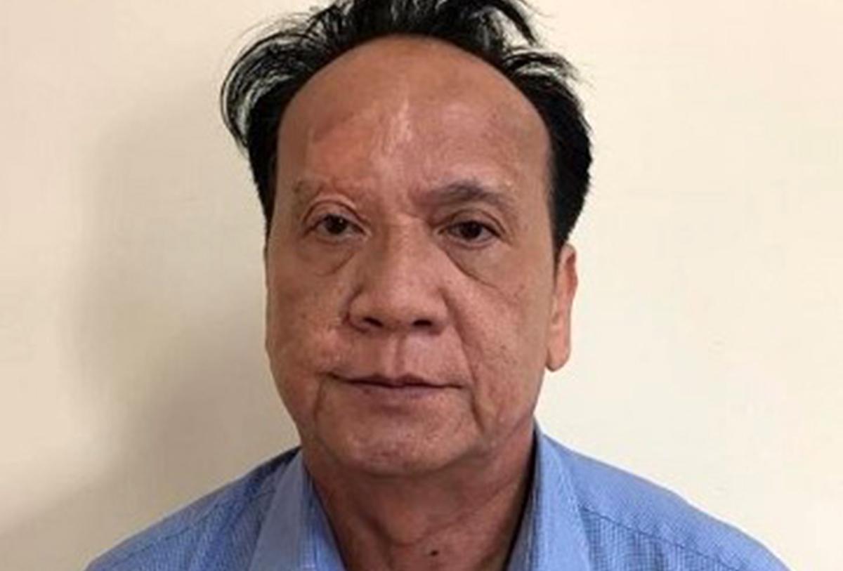Ông Lê Văn Trang tại cơ quan điều tra. Ảnh: Bộ Công an.