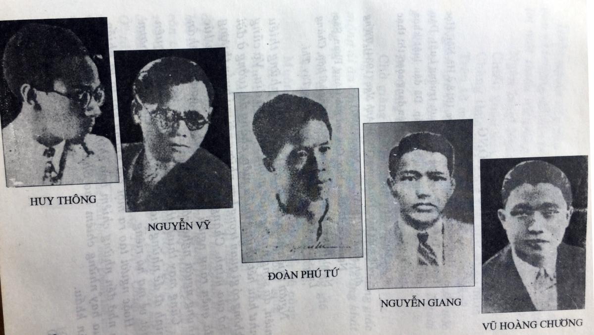 Chân dung một số nhà thơ trong phong trào Thơ mới trong sách Thi nhân Việt Nam.