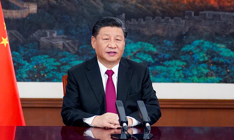 Ông Tập phát biểu tại Bắc Kinh hôm 25/1. Ảnh: AFP.
