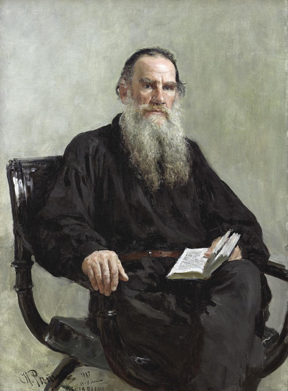 Bức chân dung của đại văn hào Nga, được vẽ bởi Ilya Efimovich Repin, năm 1887. Ảnh: Shutterstock