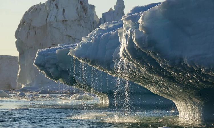 Băng tan chảy ở Greenland. Ảnh: Paul Souders.