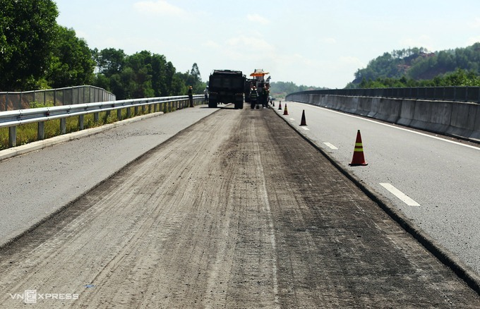 Cao tốc Đà Nẵng - Quảng Ngãi được sửa chữa, nâng cấp năm 2018. Ảnh:Đắc Thành