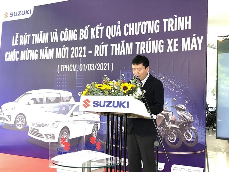 Ông Toshiyuki Takahara, Tổng Giám đốc Việt Nam Suzuki tại buổi lễ.