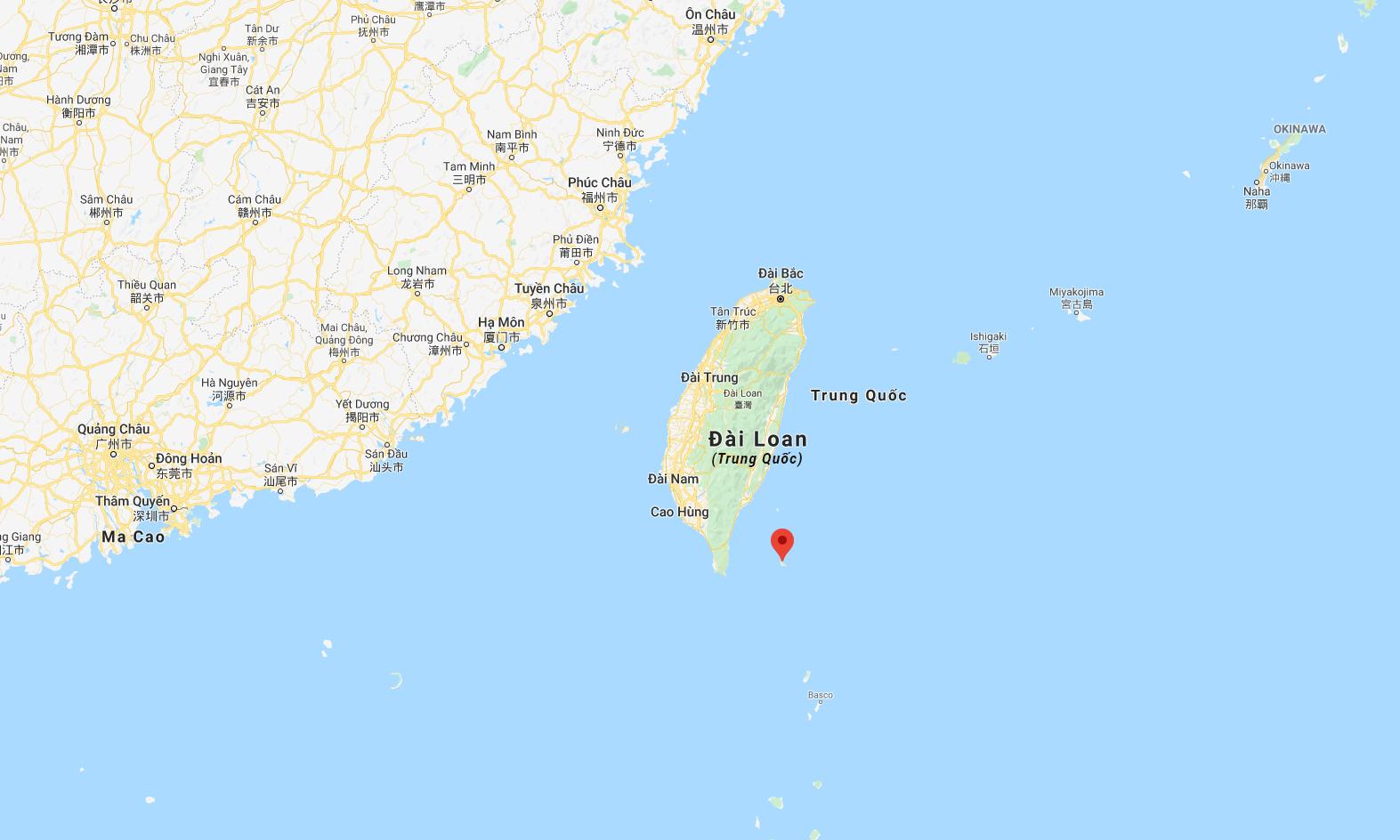 Vị trí quần đảo Lan Tự (đánh dấu đỏ). Đồ họa: Google.