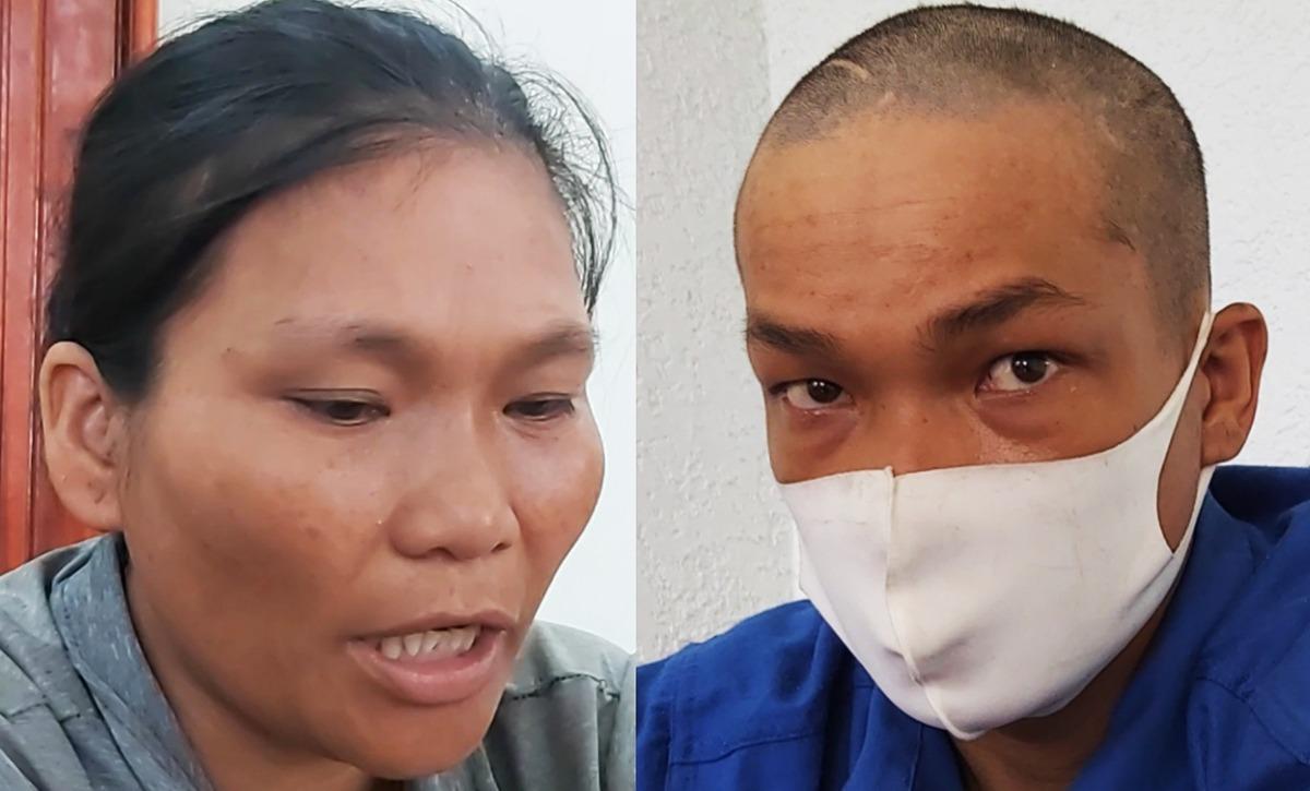 Gái và Bé tại Công an huyện Xuyên Mộc, hồi tháng 9/2020. Ảnh: Hắc Minh.
