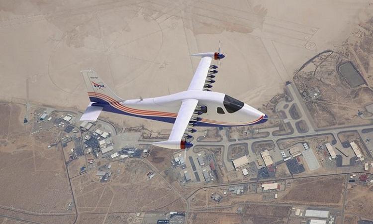 Thiết kế máy bay X-57 của NASA. Ảnh: NASA Langley.