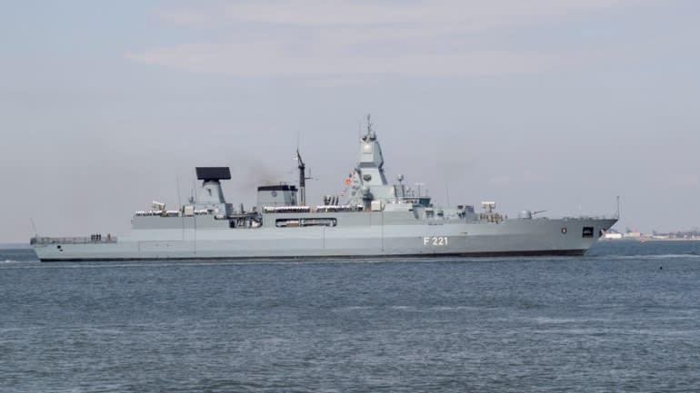 Một tàu hộ tống của Đức tại Virginia, Mỹ, năm 2018. Ảnh: Reuters