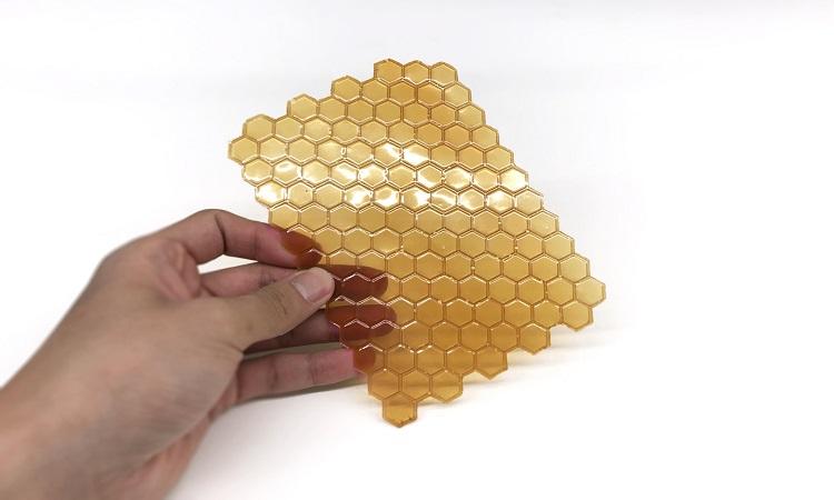 Chitosan là vật liệu vô định hình, có thể tồn tại dạng màng, viên hoặc hạt. Ảnh: NX.
