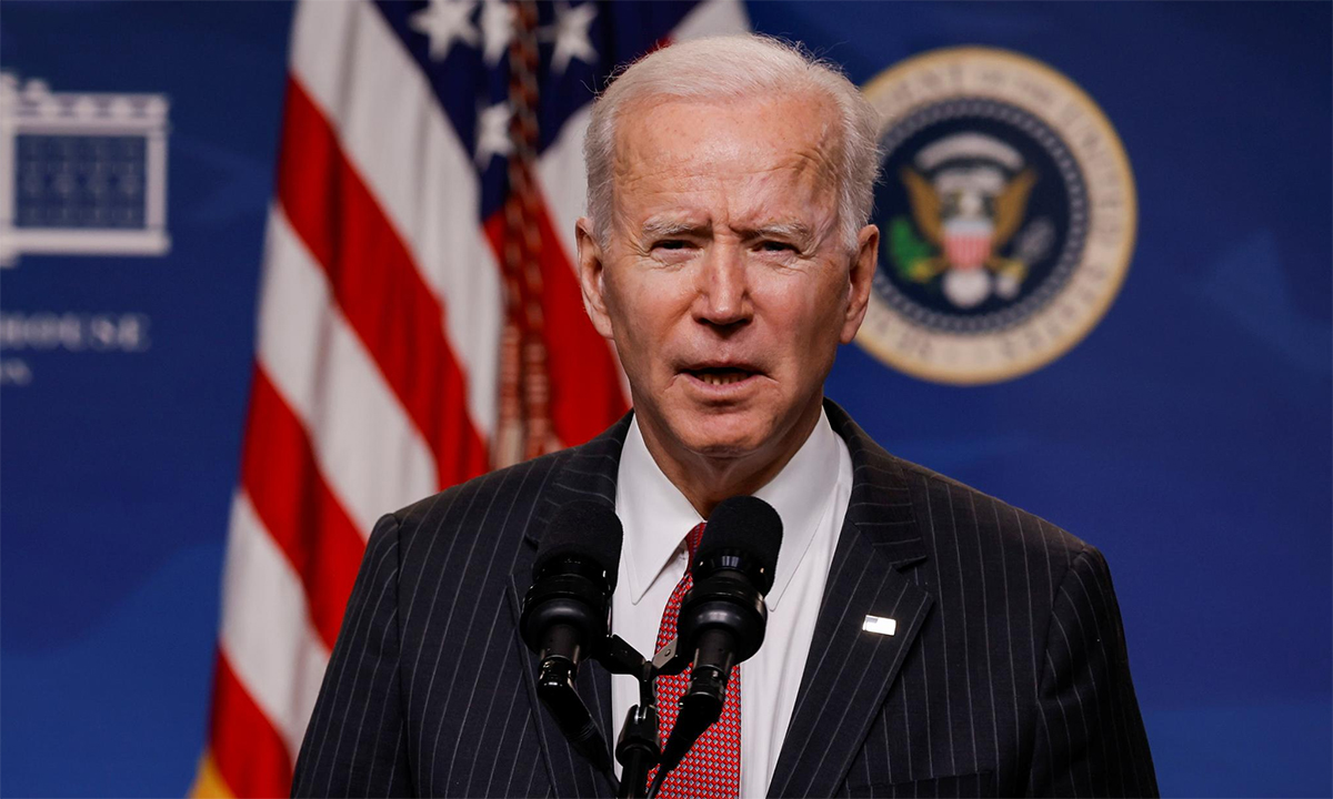 Tổng thống Mỹ Joe Biden tại buổi họp bảo ở Nhà Trắng, ngày 10/2. Ảnh: Reuters.