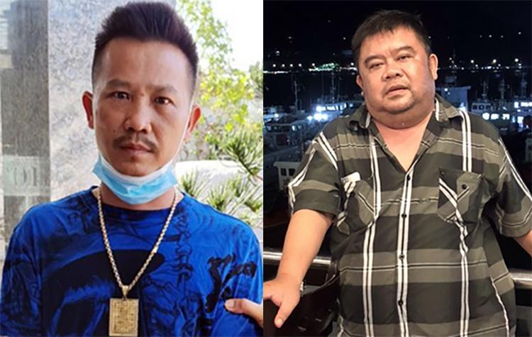 Nguyễn Thanh Bình (trái) và Đặng Quang Minh. Ảnh: Công an cung cấp