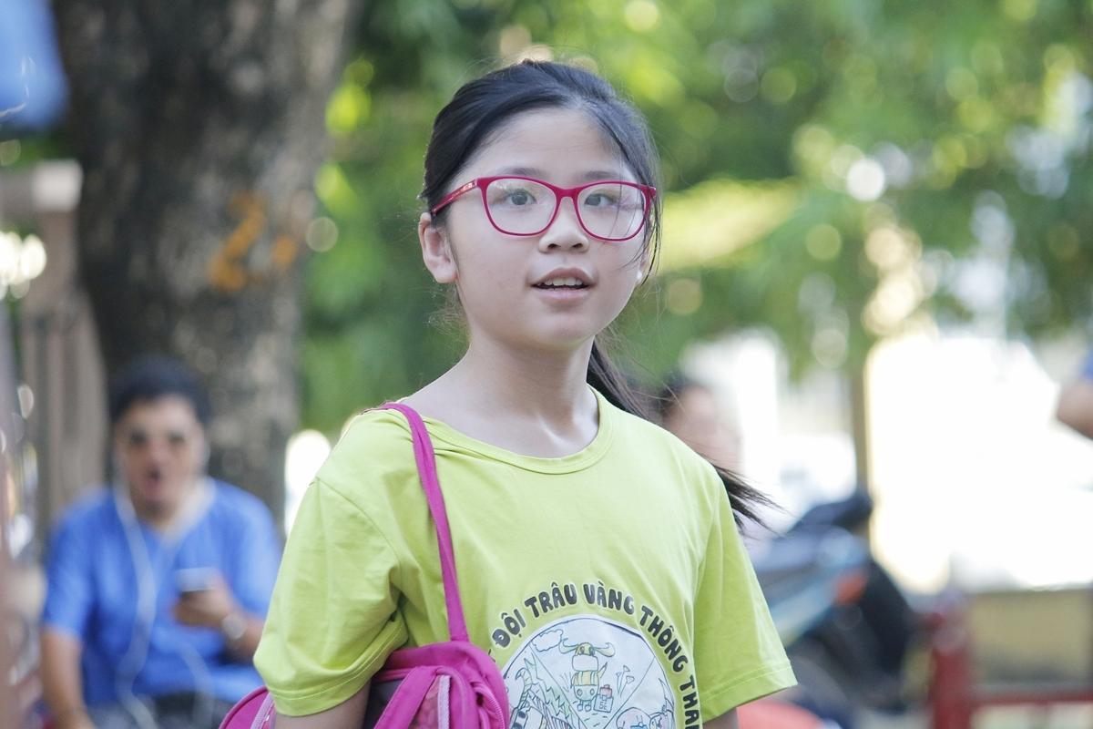 Thí sinh dự thi lớp 6, trường THCS Ngoại Ngữ, Đại học Ngoại ngữ, Đại học Quốc gia Hà Nội, năm 2020. Ảnh:Thanh Hằng