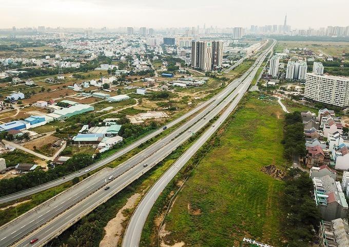 Cao tốc TP HCM - Long Thành - Dầu Giây sẽ kết nối với các đoạn cao tốc Bắc Nam đang xây dựng. Ảnh:Quỳnh Trần.