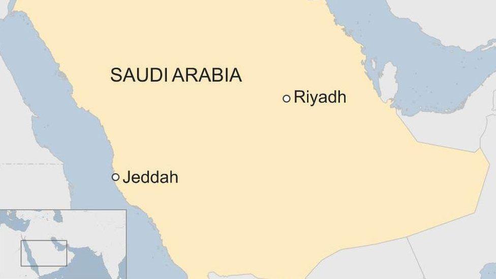 Vị trí thành phố Jeddah của Arab Saudi. Đồ họa: BBC.