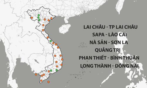 Bản đồ quy hoạch sân bay ở Việt Nam
