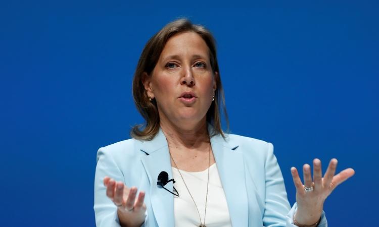 Giám đốc điều hành YouTube Susan Wojcicki tại một sự kiện ở Pháp hồi tháng 6/2018. Ảnh: Reuters.