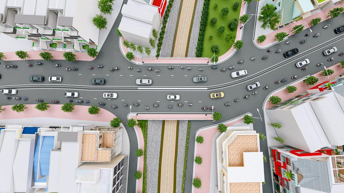 Phối cảnh cầu Hang Ngoài khi hoàn thành. Ảnh: Ban quản lý dự án đầu tư xây dựng các công trình giao thông.