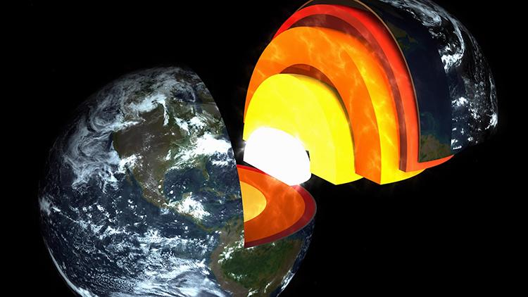 Trái Đất có thể gồm 5 lớp chứ không phải 4 lớp như hiểu biết trước đây. Ảnh: Amaze Lab.