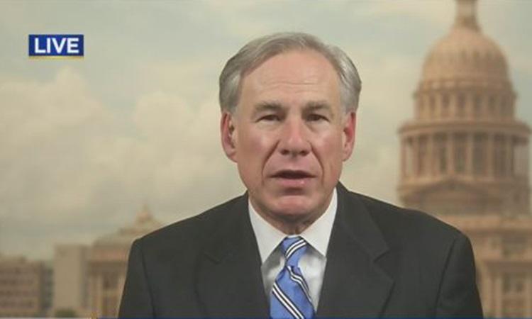 Thống đốc Texas Greg Abbott trả lời phỏng vấn hôm 5/3. Ảnh: Fox.