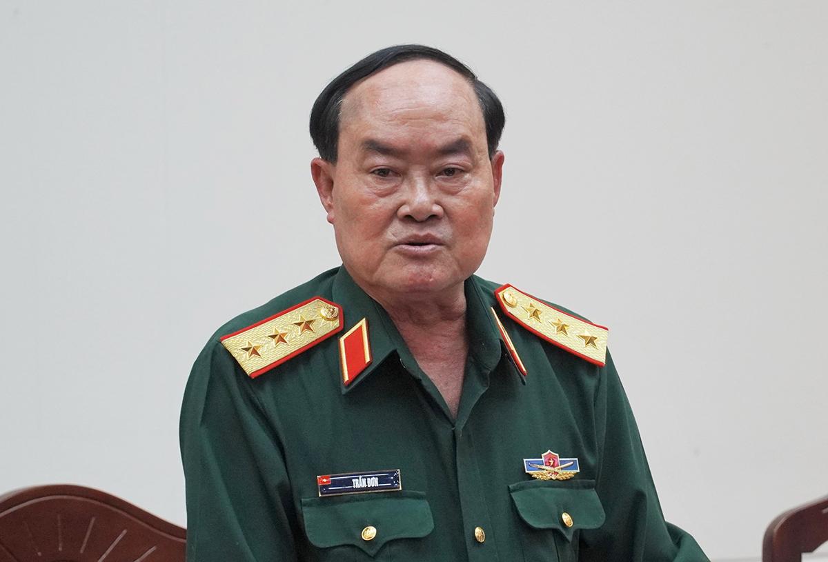 Thượng tướng Trần Đơn tại buổi làm việc với UBND Bình Thuận, ngày 5/3. Ảnh: Việt Quốc.