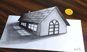 Vẽ ngôi nhà 3D