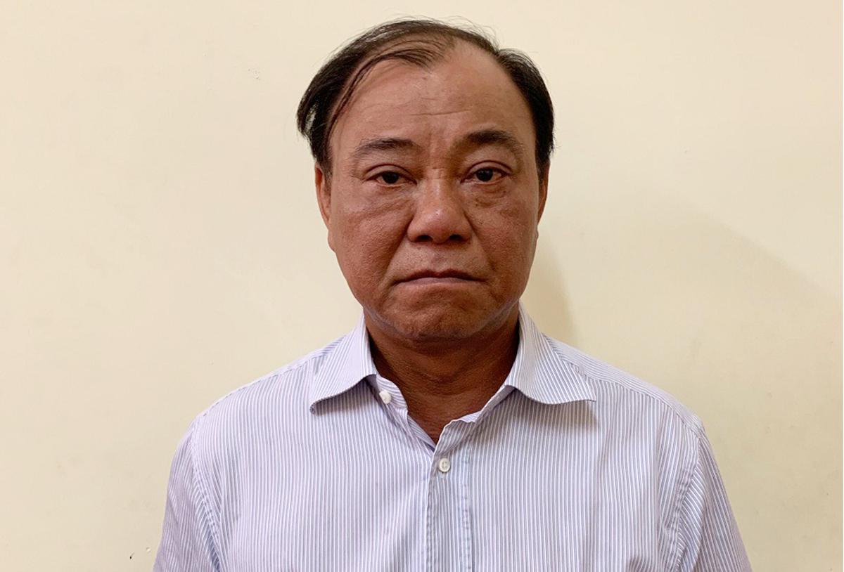 Ông Lê Tấn Hùng lúc bị bắt, tháng 7/2019. Ảnh: Bộ Công an.