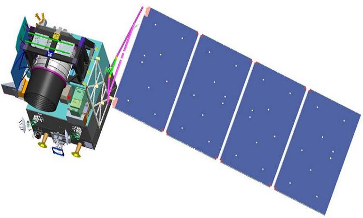 Hình ảnh vệ tinh dò tìm CO2. (Ảnh: Xinhua)