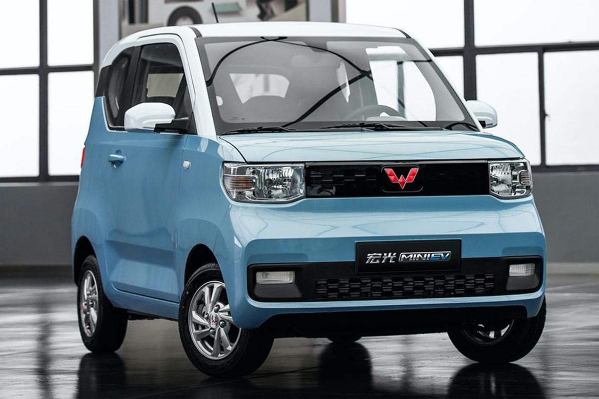 Hongguang Mini EV - xe điện bán được gấp gần hai lần so với Tesla Model 3 trong tháng Một. Ảnh: Wuling