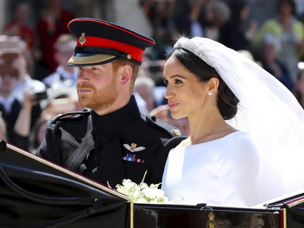 Vợ chồng Harry trong đám cưới năm 2018. Ảnh: AFP.