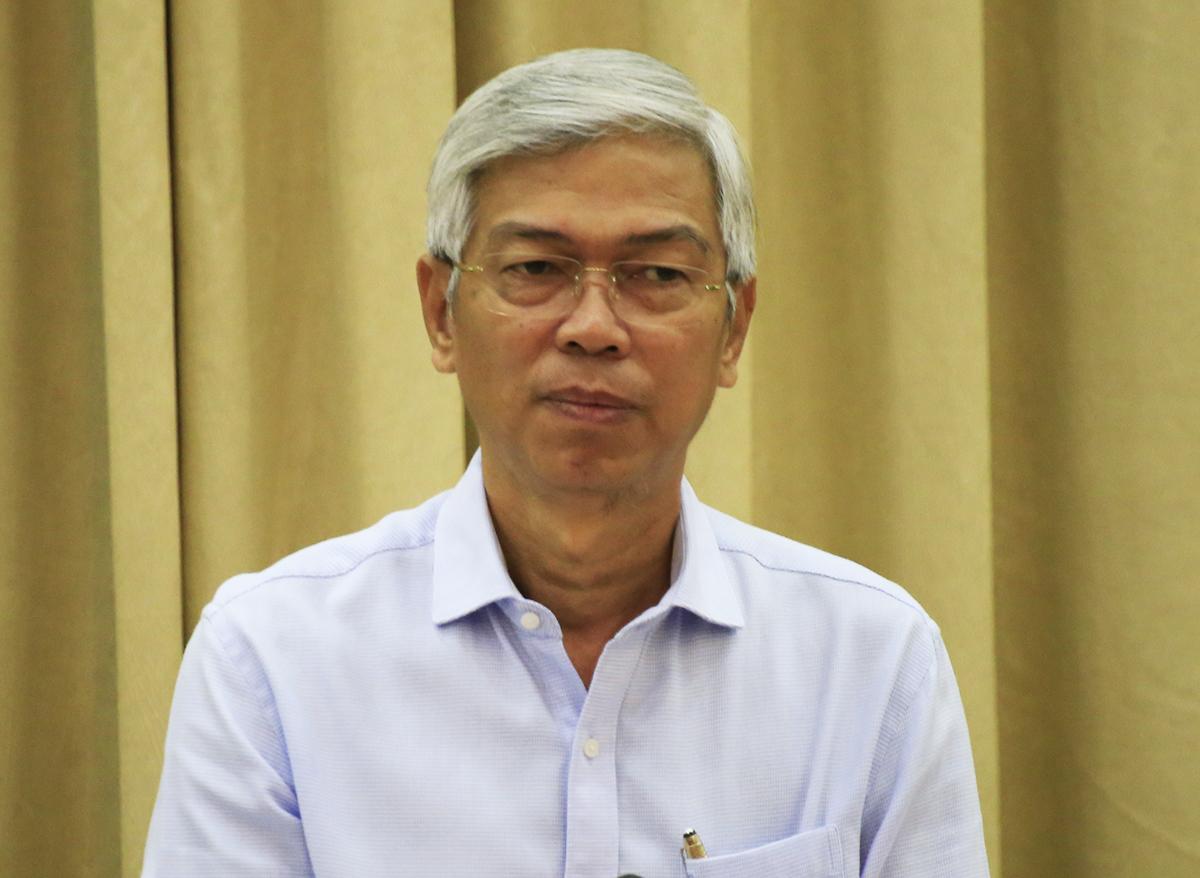 Phó chủ tịch UBND TP HCM Võ Văn Hoan chỉ đạo kết luận cuối cuộc họp. Ảnh: Hữu Công.