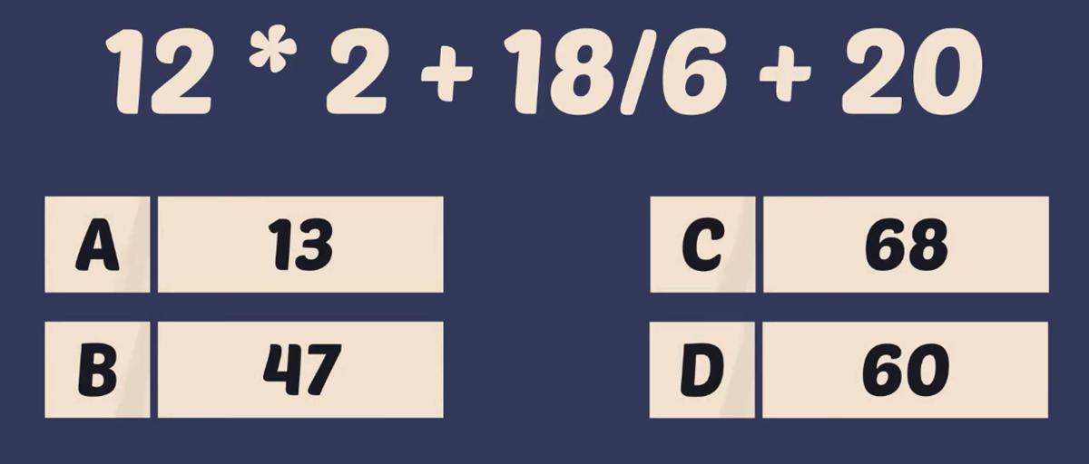 Thử tài tính nhẩm với năm phép toán - 6
