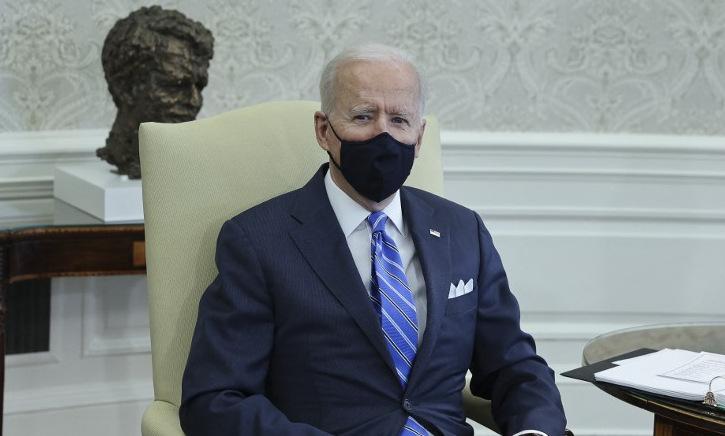 Biden trong cuộc họp với các nghị sĩ tại Nhà Trắng hôm 4/3. Ảnh: AFP.