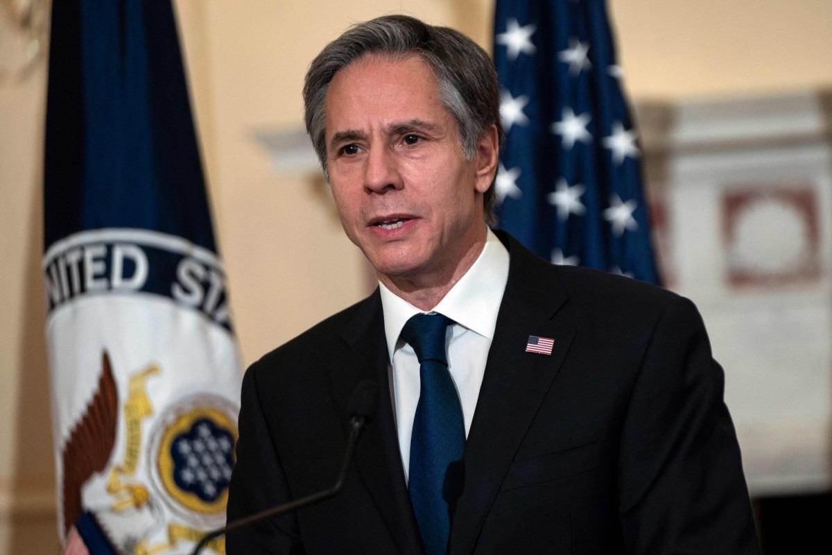 Ngoại trưởng Antony Blinken tại thủ đô Washington ngày 3/3. Ảnh: AFP.