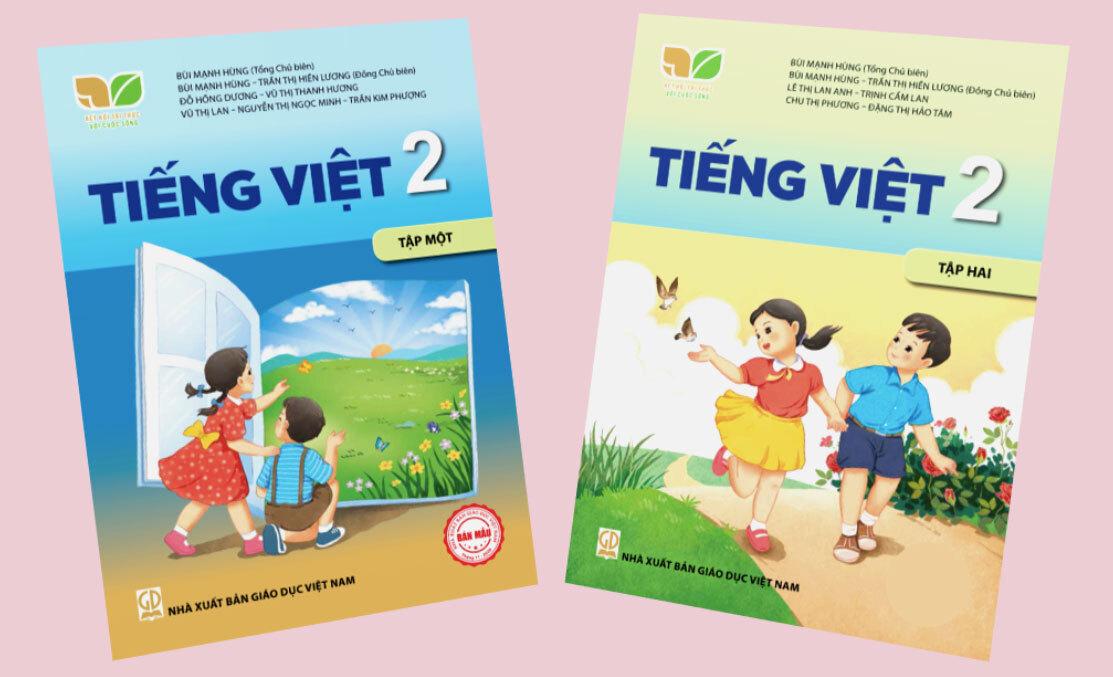 Hai cuốn Tiếng Việt lớp 2 trong bộ Kết nối tri thức và cuộc sống của Nhà xuất bản Giáo dục Việt Nam.