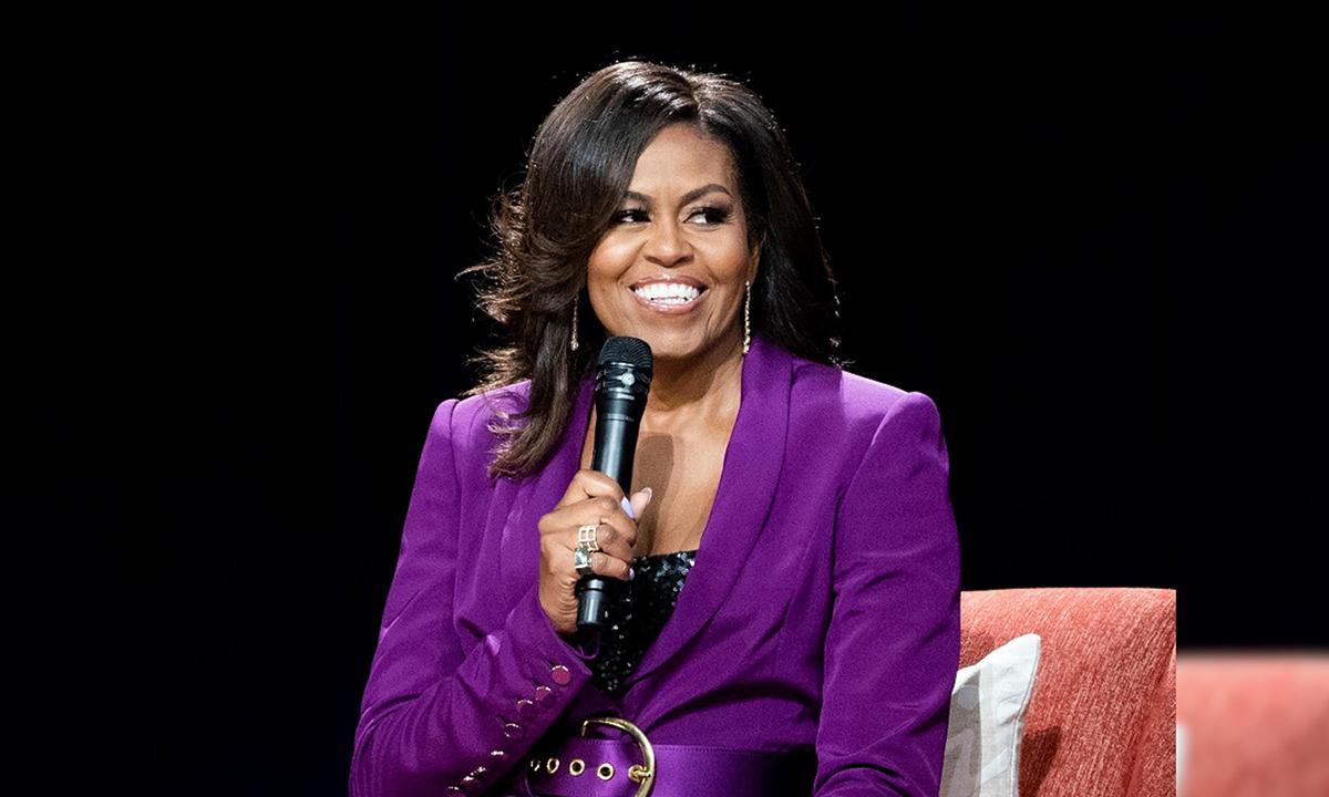 Cựu đệ nhất phu nhân Michelle Obama tại một sự kiện ở Atlanta tháng 5/2019. Ảnh: AP.