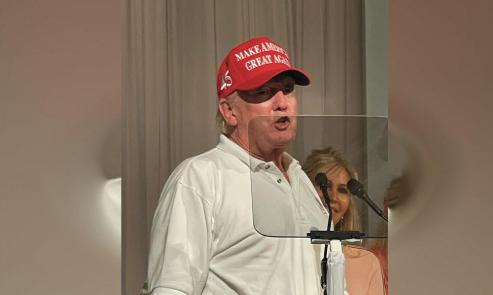 Trump xuất hiện trong sự kiện ở Mar-a-Lago, bang Florida, hôm 12/3. Ảnh: WPTV.